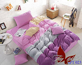 Комплект постельного белья ТМ TAG семейный, постельное белье семейное Color mix APT023