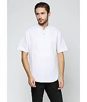 Вышитая футболка. Мужская футболка в украинском стиле. Белая мужская вышиванка., фото 1