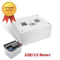 Инкубатор 220+12 Вольт Несушка М автомат на 76 яиц с аварийным питанием
