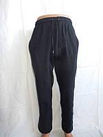 Спортивные мужские штаны, CREPE на байке, с лампасом 004(т. синий)/ купить спортивные штаны оптом
