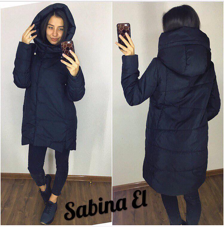 Демисезонная женская куртка прямого кроя с капюшоном 70160, фото 1