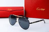Солнцезащитные очки Cartier 88001 черн золото
