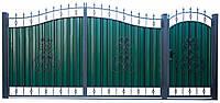 Ворота и калитка с элементами ковки ВР-5