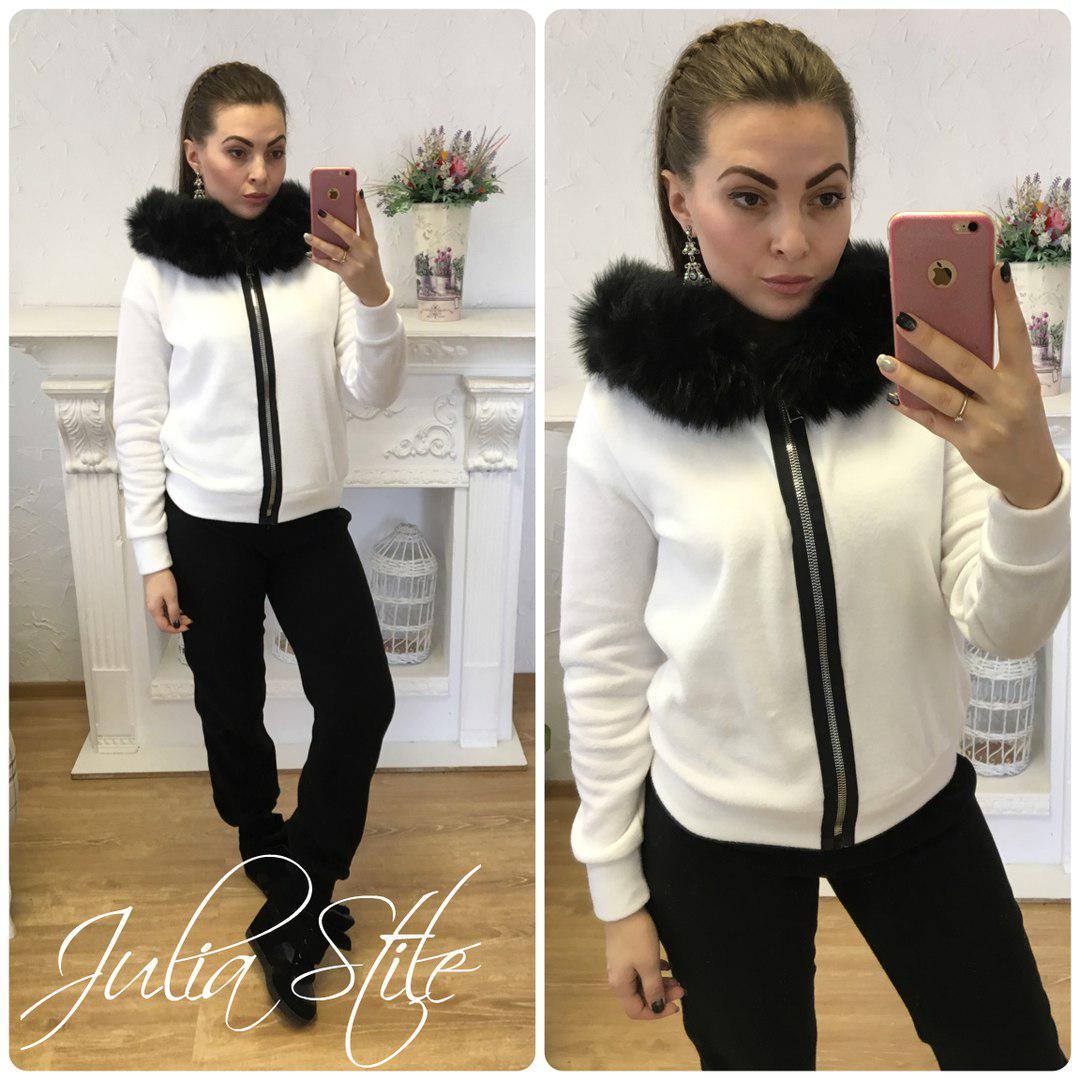 84078213ea0 Купить Тёплый женский спортивный костюм на флисе с мехом 2805185 ...