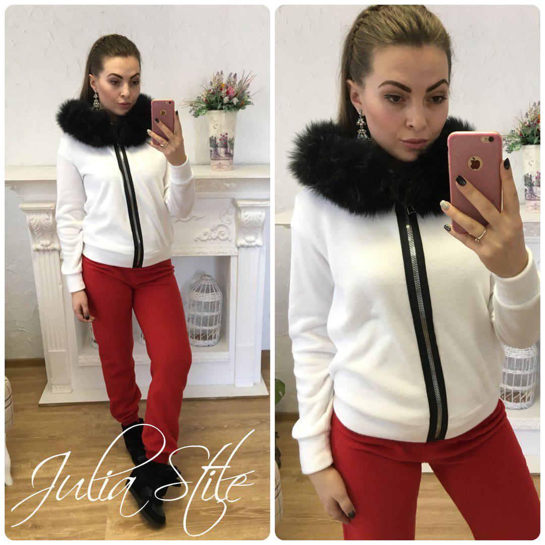 49635f99e07 Купить Тёплый женский спортивный костюм на флисе с мехом 2805185 ...