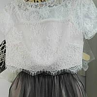 Набор: кружевной топ + юбка для маленьких принцес от 2 до 14 лет
