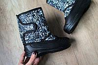 Детские зимние сапожки сноубутсы, на мальчика,сбоку липучки,не промокают р.28,29,30,31,33,35