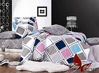 Комплект постельного белья с компаньоном S-114 евро (TAG satin (evro)-114)