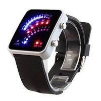 Наручные часы LED 29 по типу спидометра черные