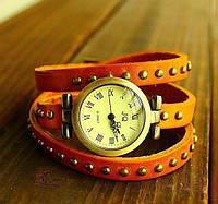 Женские наручные кварцевые часы JQ orange c длинным ремешком