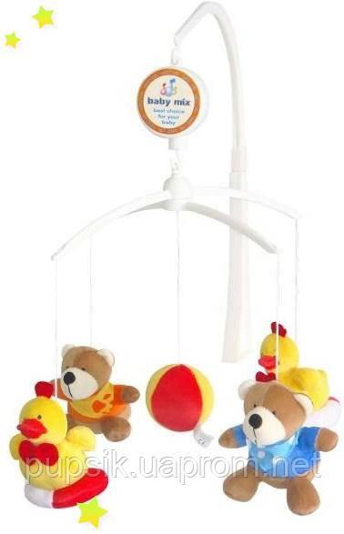 Музыкальный мобиль Baby Mix 785М Мишки с уточками (Мягкие игрушки)