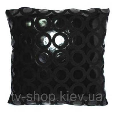 Подушка лаковая Кольца на черном