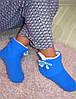 Домашние тапочки голубые