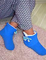 Домашние тапочки голубые, фото 1