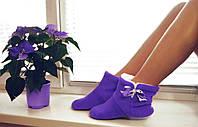 Домашние тапочки фиолетовые, фото 1
