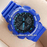 Спортивные наручные часы Casio G-Shock GA 100 Синие