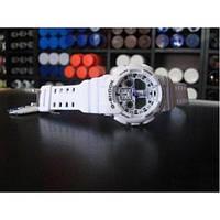 Спортивные наручные часы Casio G-Shock GA 100 Белые