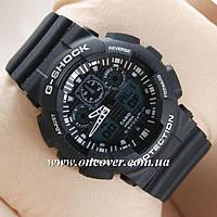 Спортивные наручные часы Casio G-Shock GA 100 Черные с белым
