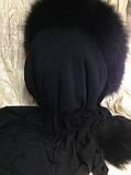 Капор с чёрным мехом песца, фото 6