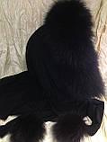 Капор с чёрным мехом песца, фото 7