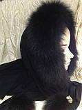 Капор с чёрным мехом песца, фото 8