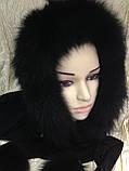 Капор с чёрным мехом песца, фото 9