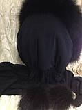 Капор с чёрным мехом песца, фото 10