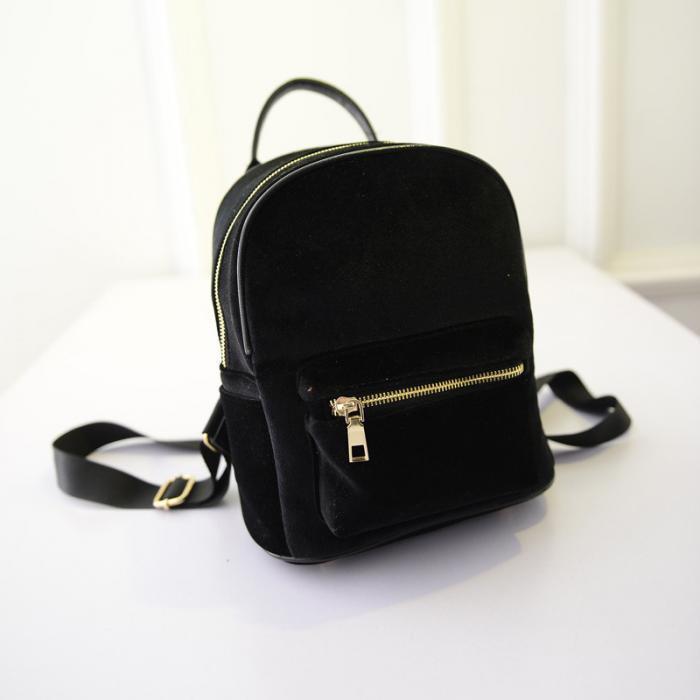 Рюкзак женский велюровый молодёжный