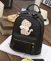 Красивый рюкзак черный с котенком