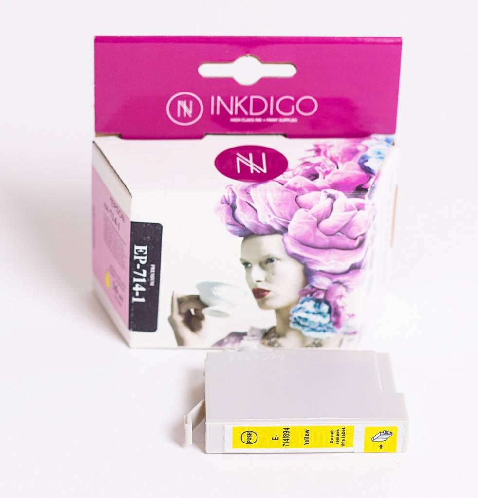Струйный картридж Inkdigo аналог Epson C13T70144010 Yellow