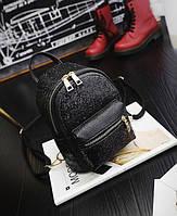 Рюкзак для девочек мини черного цвета