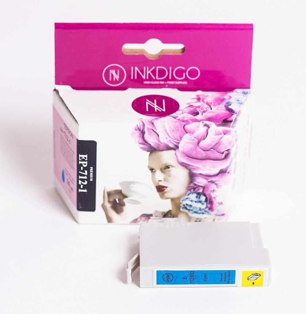 Струйный картридж Inkdigo аналог Epson T7012 C13T70124010 Cyan