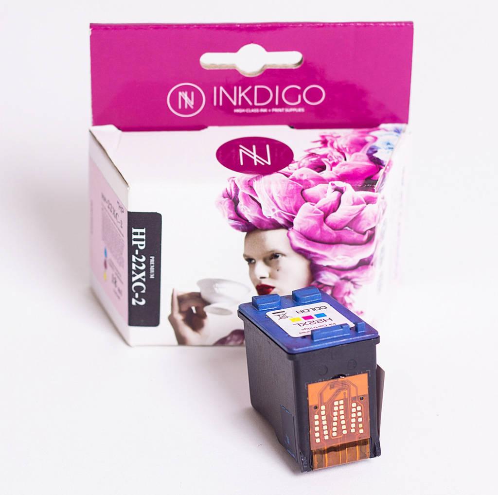 Струйный картридж Inkdigo аналог HP 22 XL C9352CE Color
