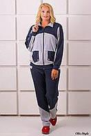 Женский спортивный костюм батал Бонита серый