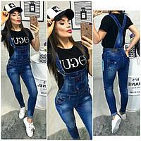 Комбинезон джинсовый женский №0175