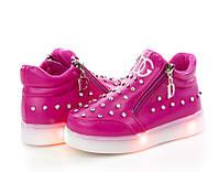 Яркие модные ботинки-кроссовки для девочки.(р27-29)