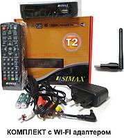 Комплект тюнер т2 SIMAX RED HD  (приставка т2)  с wi-fi адаптером YouTube, IPTV, MEGOGO