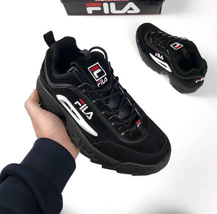 Женские и мужские кроссовки Fila Disruptor 2(II) Black, фото 2