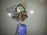 Новогодняя конфета леденец на палочке ЁЛОЧКА 15 см