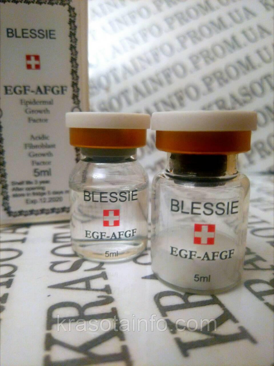Концентрат для клеточного восстановления кожи EGF&AFGF, для мезороллера, дермаштампа, Blessie