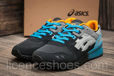 Мужские кроссовки Asics Gel Lyte III Black/Blue/Yellow