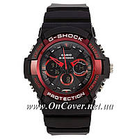 Наручные спортивные часы Casio G-shock GA-200SH Black-Red