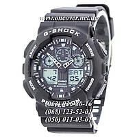 Мужские спортивные наручные часы Casio G-Shock Ga-100 Black-White