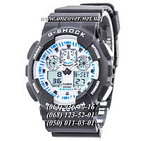 Мужские спортивные наручные часы   Casio G-Shock Ga-100 White-Black Dial