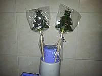 Новогодний леденец-конфета ЁЛОЧКА со звездой 10 см
