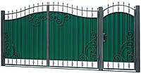 Ворота и калитка с элементами ковки ВР-7