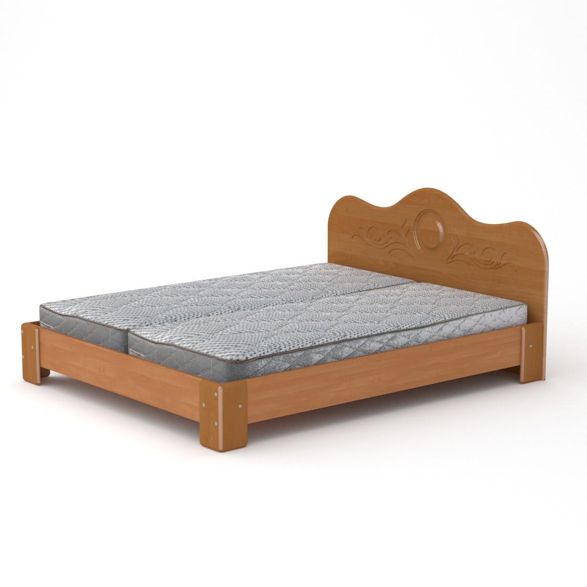 Кровать с матрасом 170 МДФ ольха Компанит