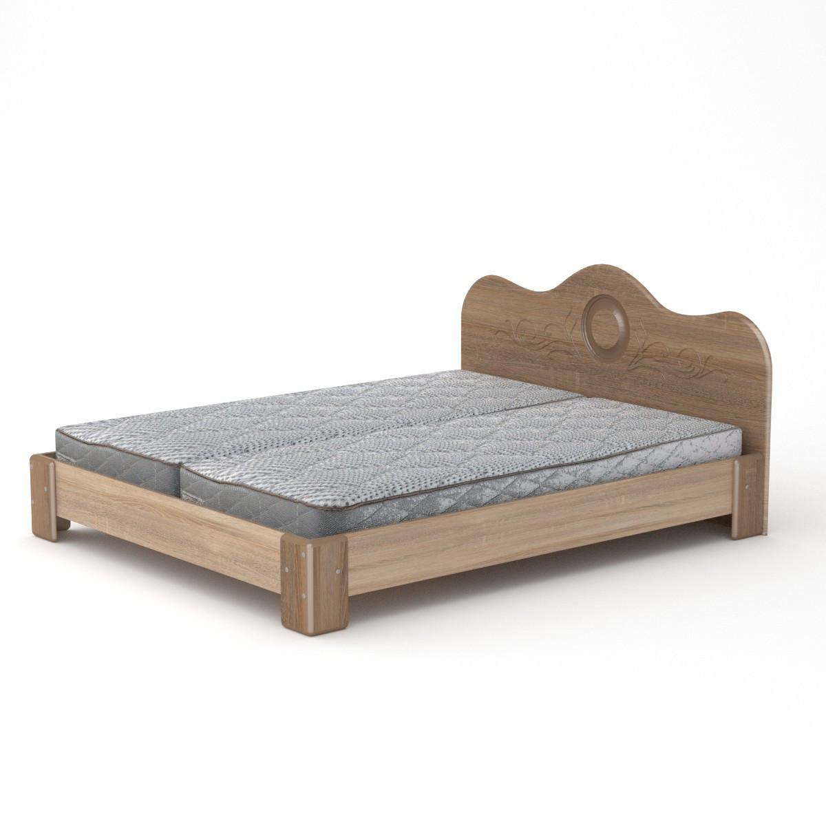 Кровать с матрасом 170 МДФ дуб сонома Компанит