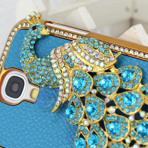 Чехол с павлином и камнями Сваровски для Samsung Galaxy S4