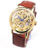 Часы наручные механические GOER classic золотые